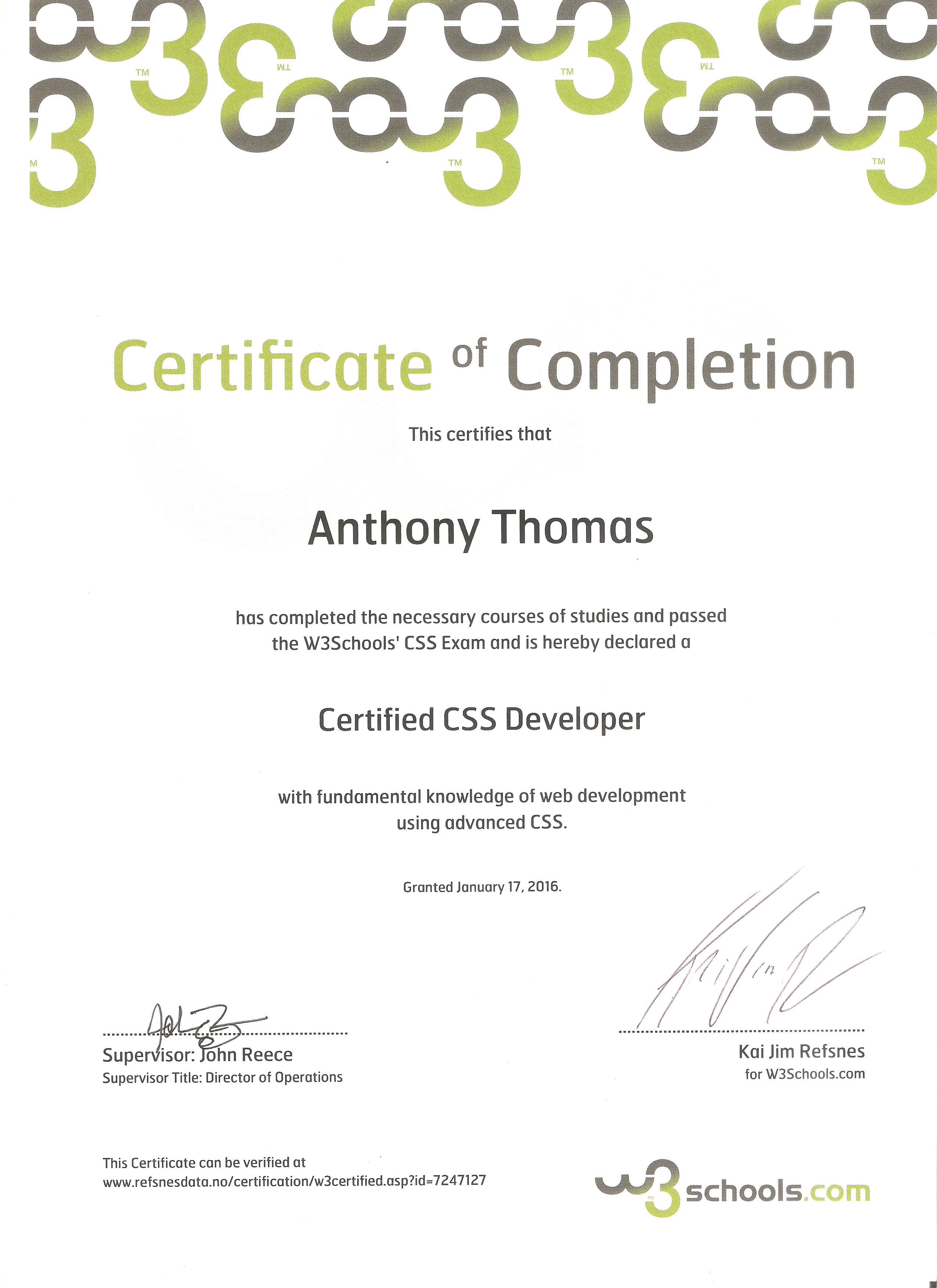 Anthony thomas resume july 2013 html developers certificate w3schools fall 2003 introduction to computers houston community college 1989 ged from the state of california xflitez Choice Image
